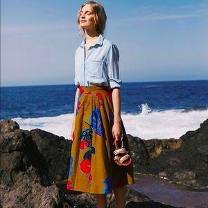 Anthropologie Eva Franco A-Line Betta Fish Skirt 6